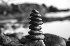 石を積み上げた写真